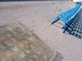 Les chaises bleues
